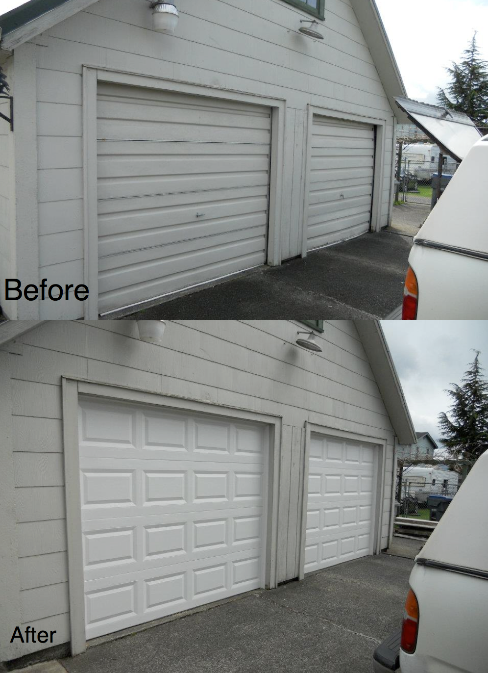 Before U0026 After Garage DoorHung Right Doors In Olympia WA   Aberdeen U0026  Olympia Garage Doors