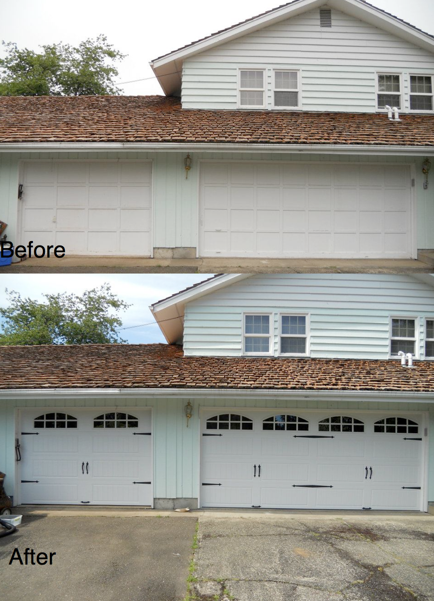Hung Right Doors Before & After Garage Door in Olympia WA