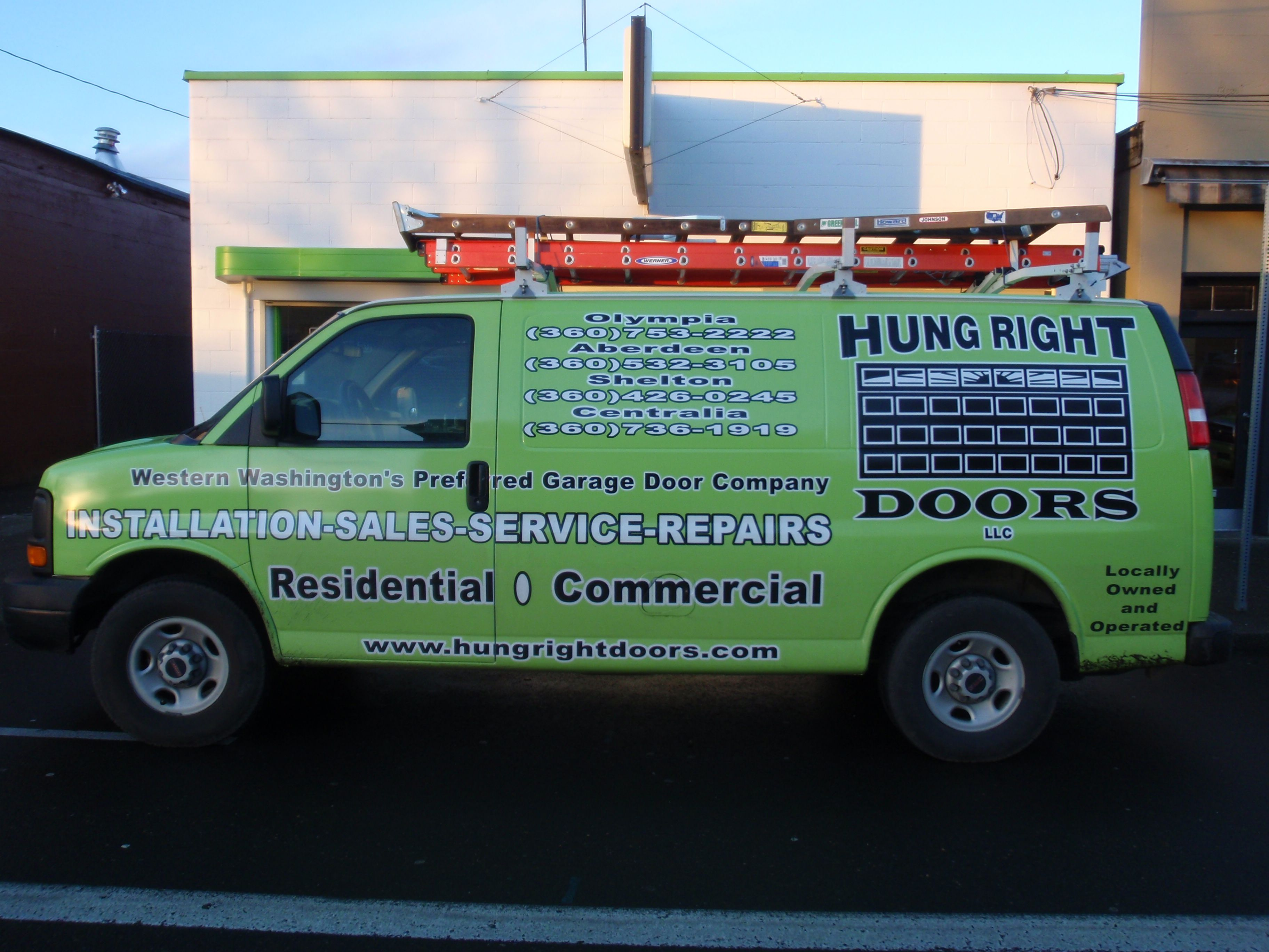 Hung Right Doors Service Van