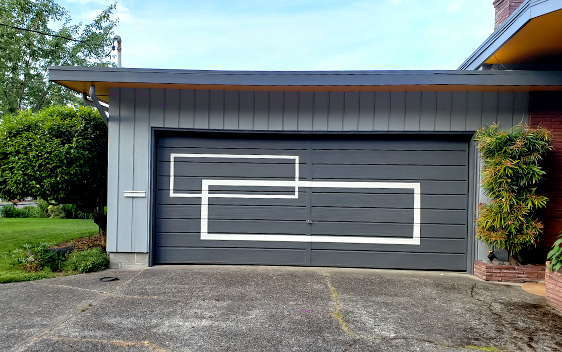 Wood Garage Door - Hung Right Doors
